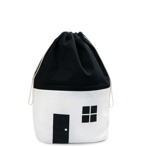 Organic Monochrome Medium Storage Bag by Rock & Pebble | Soren's House