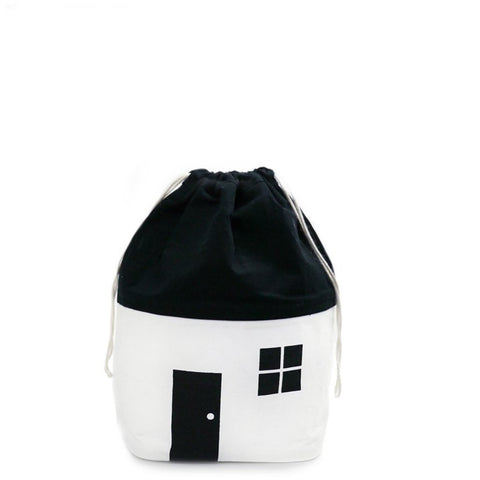 Organic Monochrome Small Storage Bag by Rock & Pebble | Soren's House