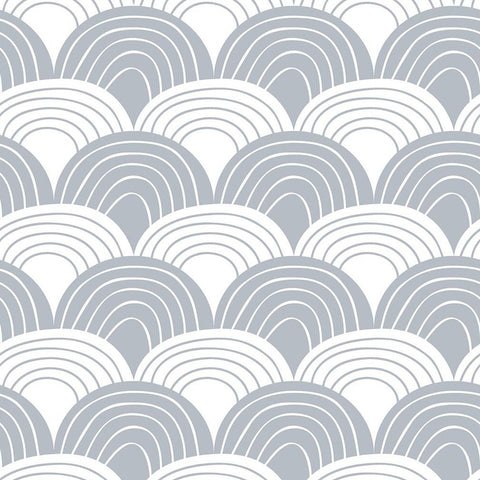 Swedish Linens Fitted Sheets - Rainbows Tranquil Grey (4 Sizes)