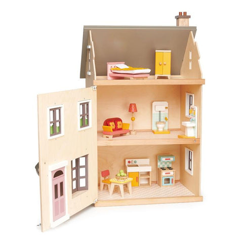 Tender Leaf Toys - Wooden Foxtail Villa Dollhouse