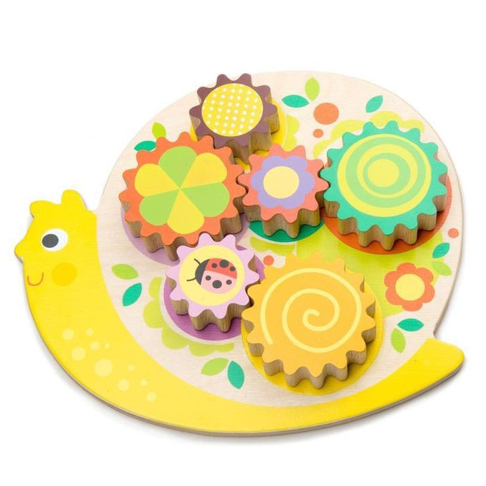 Tender Leaf Toys - Wooden Snail Whirls Toy