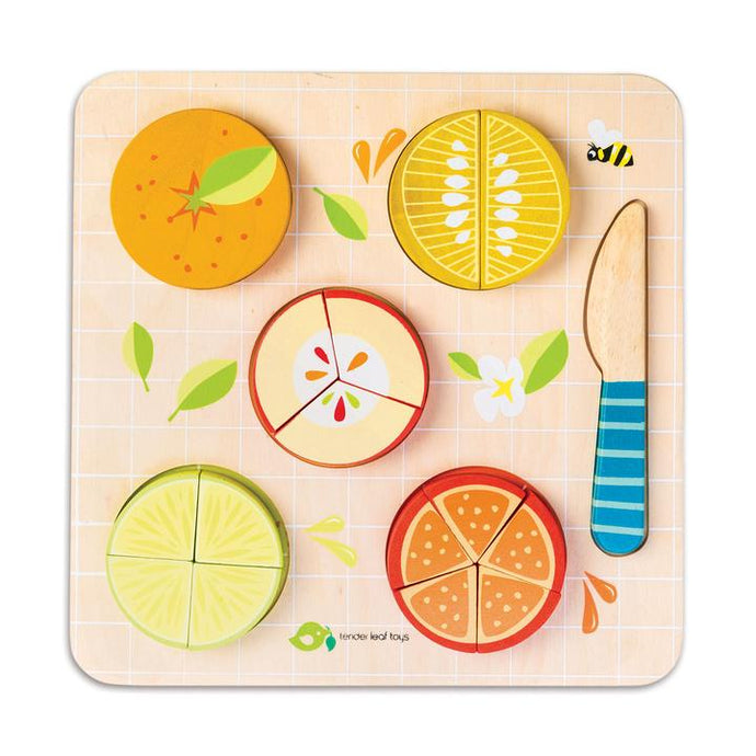 Tender Leaf Toys - Wooden Citrus Fractions Puzzle