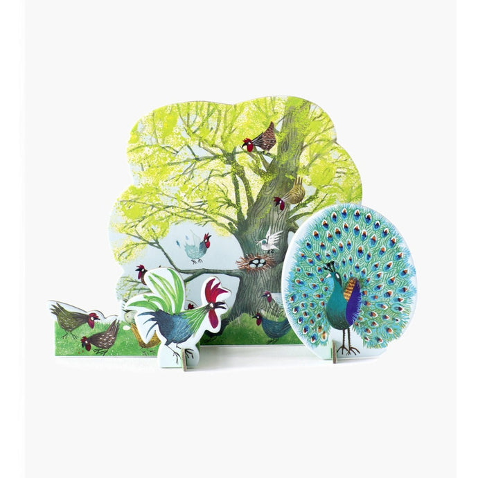 Studio Roof 3D Model Greeting Card - Chicken Tree