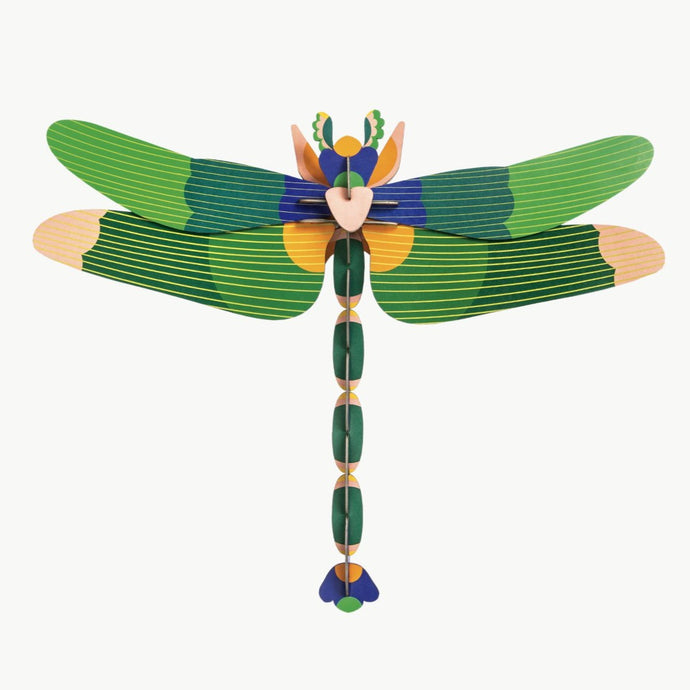 Studio Roof 3D Model Wall Decor - Giant Green Dragonfly