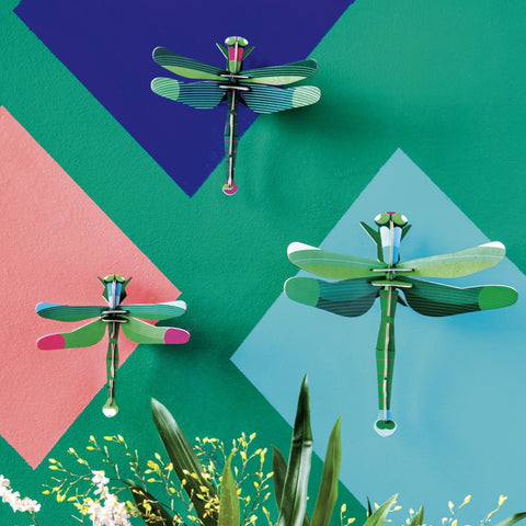 Studio Roof 3D Model Wall Decor - Set of 3 Dragonflies