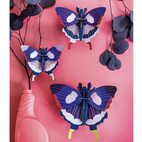 Studio Roof 3D Model Wall Decor - Set of 3 Swallowtail Butterflies