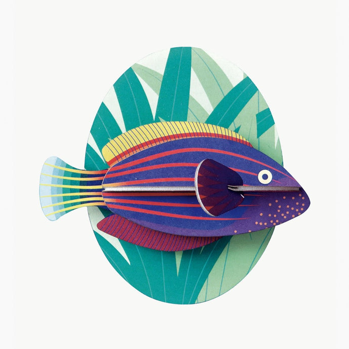 Studio Roof 3D Model Wall Decor - Six Line Wrasse Fish