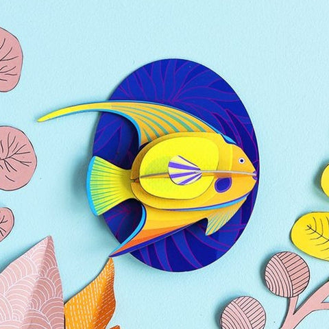 Studio Roof 3D Model Wall Decor - Yellow Angelfish