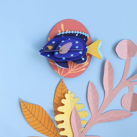 Studio Roof 3D Model Wall Decor - Jewel Damselfish