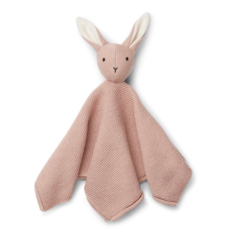 Liewood Milo Knit Organic Cuddle Cloth - Rabbit Rose