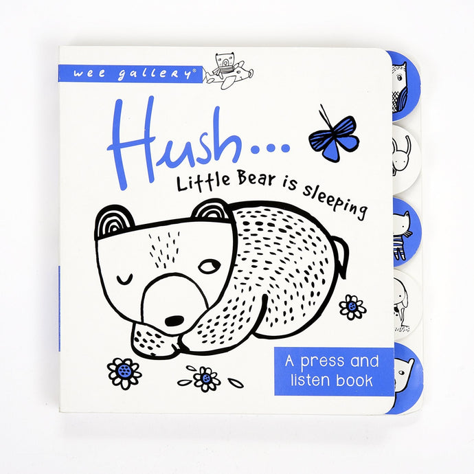 Wee Gallery Press & Listen Book - Hush! Little Bear Is Sleeping