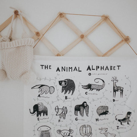 Wee Gallery Animal Alphabet Wall Hanging | Soren's House
