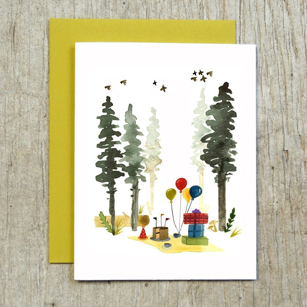 Woodland Birthday Card by Little Truths Studio