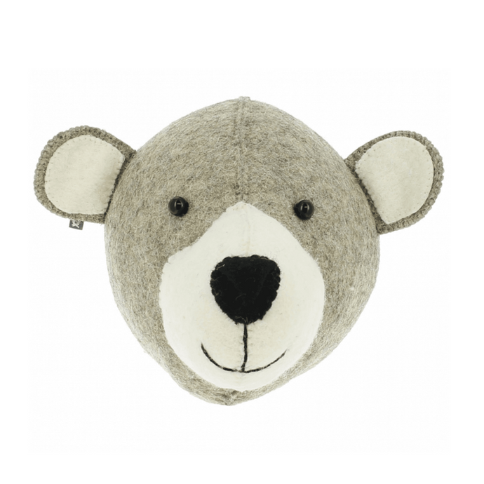 Fiona Walker Mummy Bear Felt Animal Wall Head - Semi
