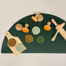 Ailefo Silicone Modelling Clay Play Mat - Dark Green