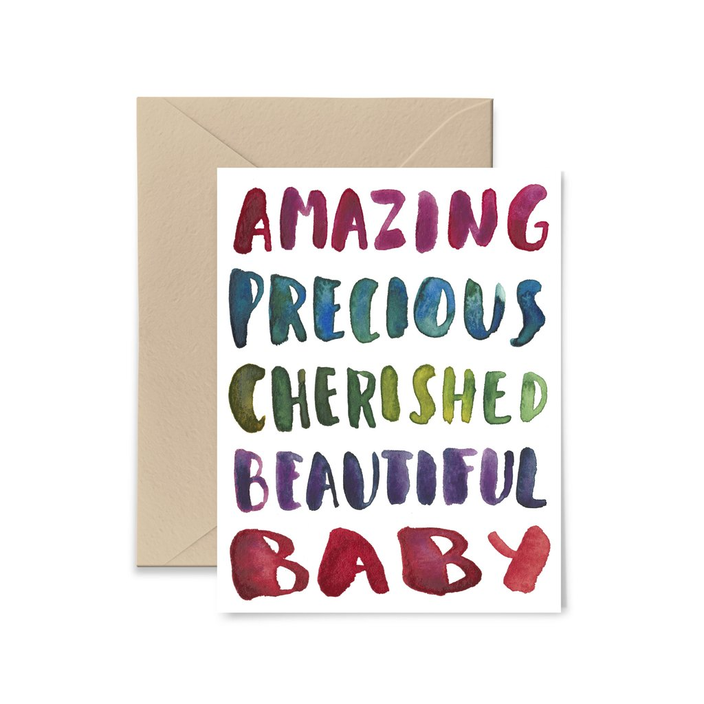 Amazing Baby Greeting Card by Little Truths Studio
