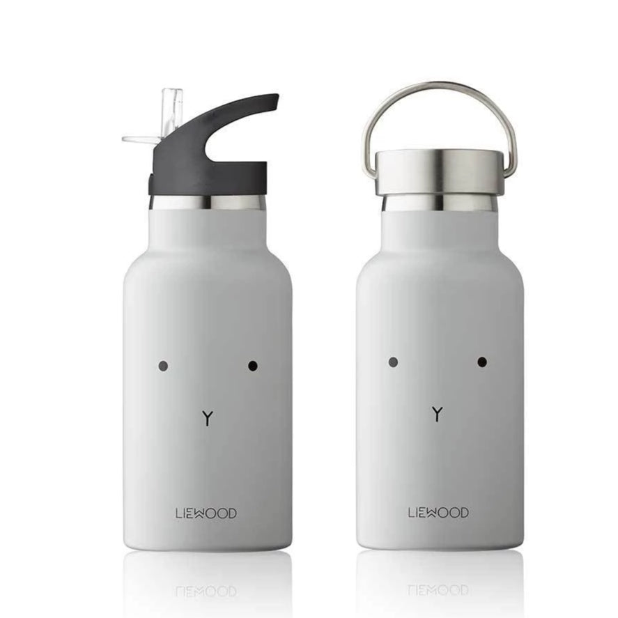 Liewood Anker Steel Water Bottle - Rabbit Dumbo Grey