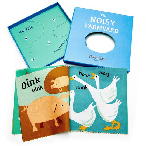 Thread Bear Design - The Noisy Farmyard Rag Book