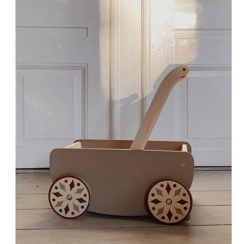 Konges Slojd Wooden Walk Wagon - Glacier Grey