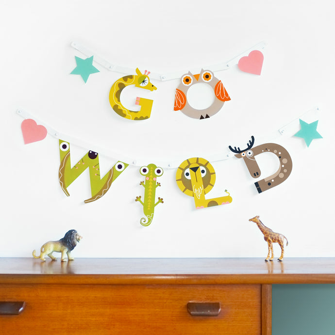 Children's Wall Banner Kit by the Jam Tart