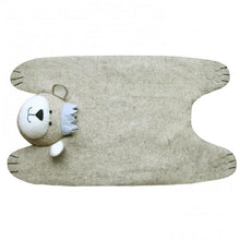 Fiona Walker Felt Animal Rug - Grey Bear With Crown | Soren's House