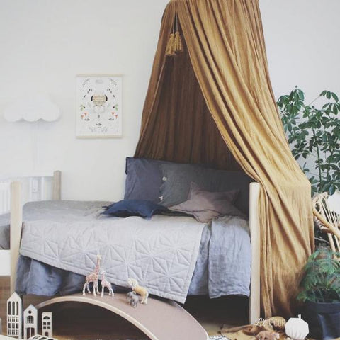 Konges Slojd Organic Bed Canopy - Mustard