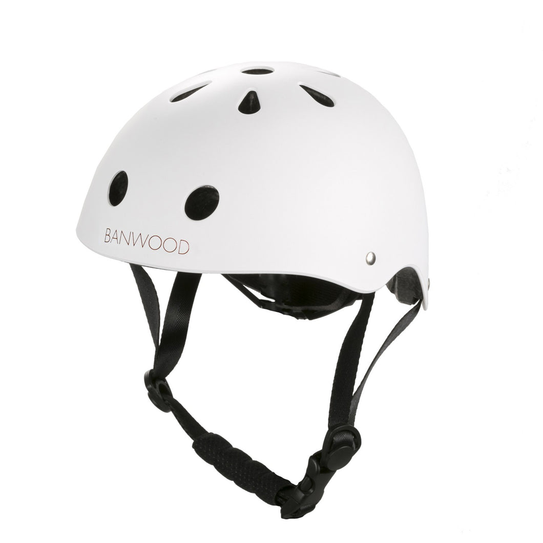Banwood Classic Junior Bike Helmet - Matte White