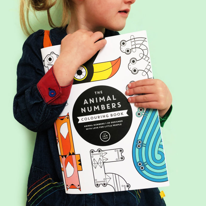The Animal Numbers Colouring Book by The Jam Tart