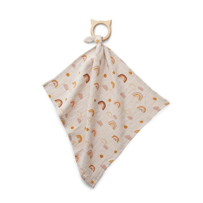 Liewood Dines Teether Cuddle Cloth - Rainbow Love Sandy