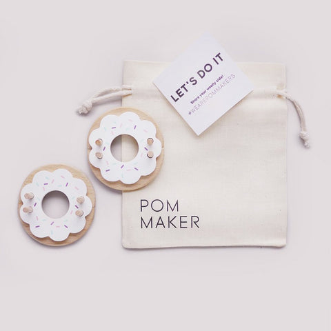 Wooden Vanilla Donut Pom Pom Maker by Pom Maker | Soren's House