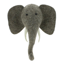 Fiona Walker Elephant Felt Animal Wall Head - Mini