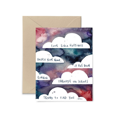 Ever Since Happiness Greeting Card by Little Truths Studio