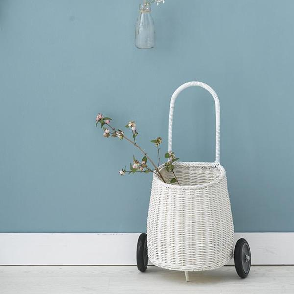 Olli Ella Basket Luggy - White