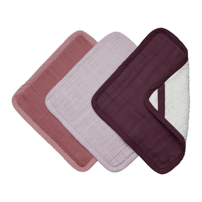 Fabelab Organic Washcloths - 3 Pack - Berry