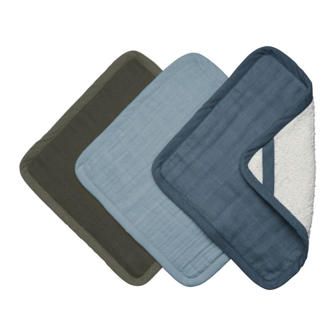Fabelab Organic Washcloths - 3 Pack - Coastal
