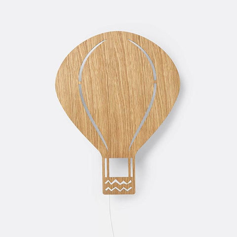 Ferm Living Air Balloon Lamp - Oiled Oak