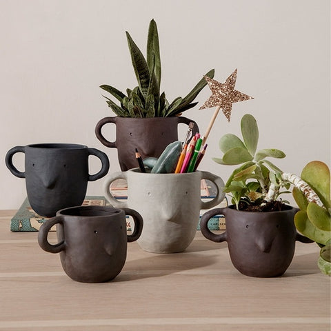 Ferm Living Mus Plant Pot - Sand - Small