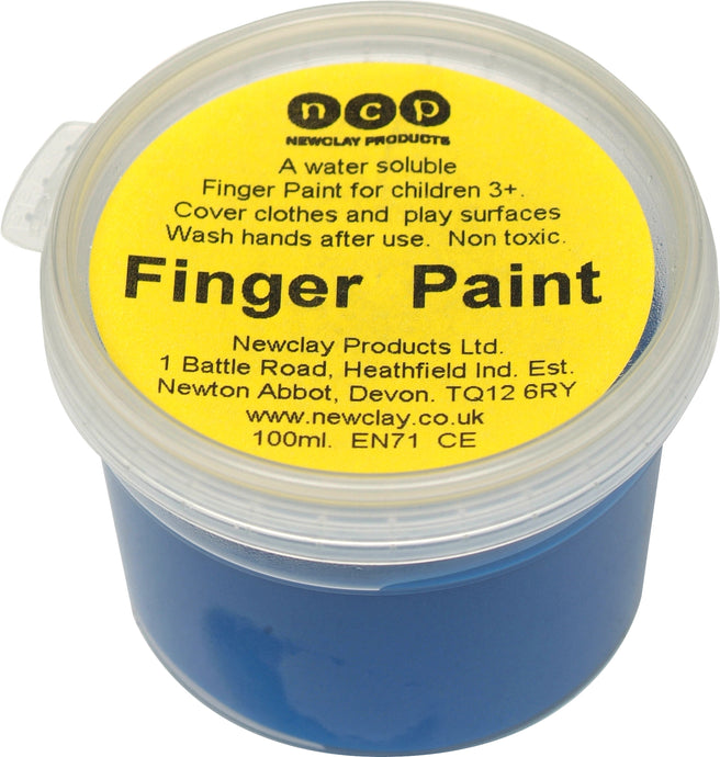 Newclay Kid's Finger Paint 100ml Pot - Blue | Soren's House