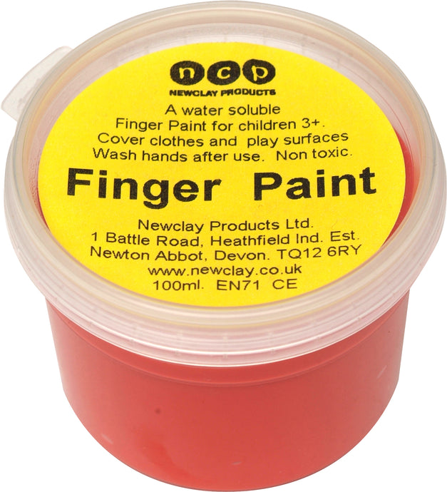 Newclay Kid's Finger Paint 100ml Pot - Red | Soren's House