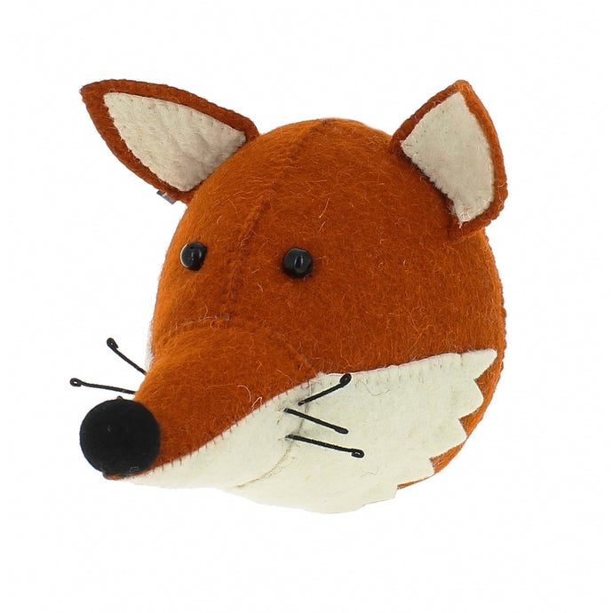 Fiona Walker Fox Felt Animal Wall Head - Mini