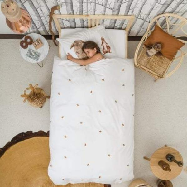 Snurk Furry Friends Single Duvet Cover and Pillowcase Set