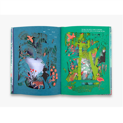 Garden Jungle - Children's Laser Cut Hardback Book