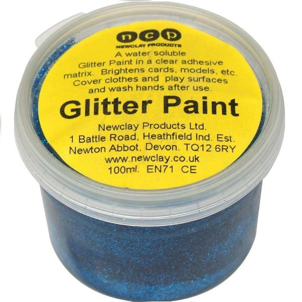 Newclay Glitter Paint 100ml Pot - Blue | Soren's House