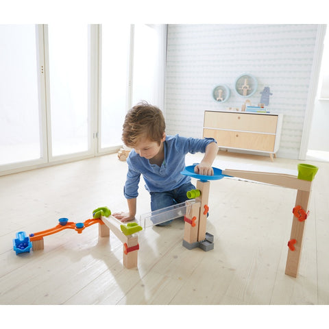 HABA Wooden Marble Twister Marble Run Set