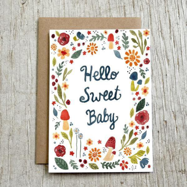 New baby card from Little Truths Studio