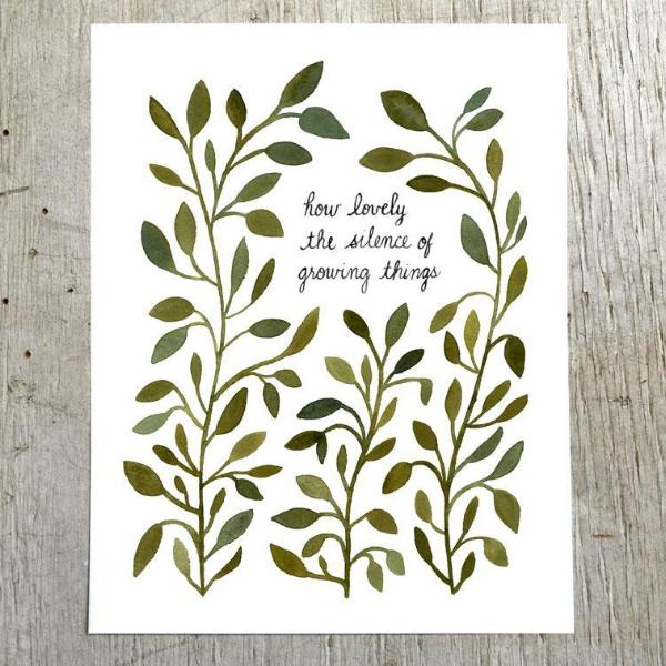 Silence of Growing Things Art Print by Little Truths Studio