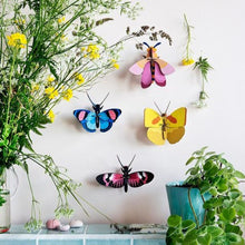 Studio Roof 3D Model Wall Decor - Yellow Butterfly