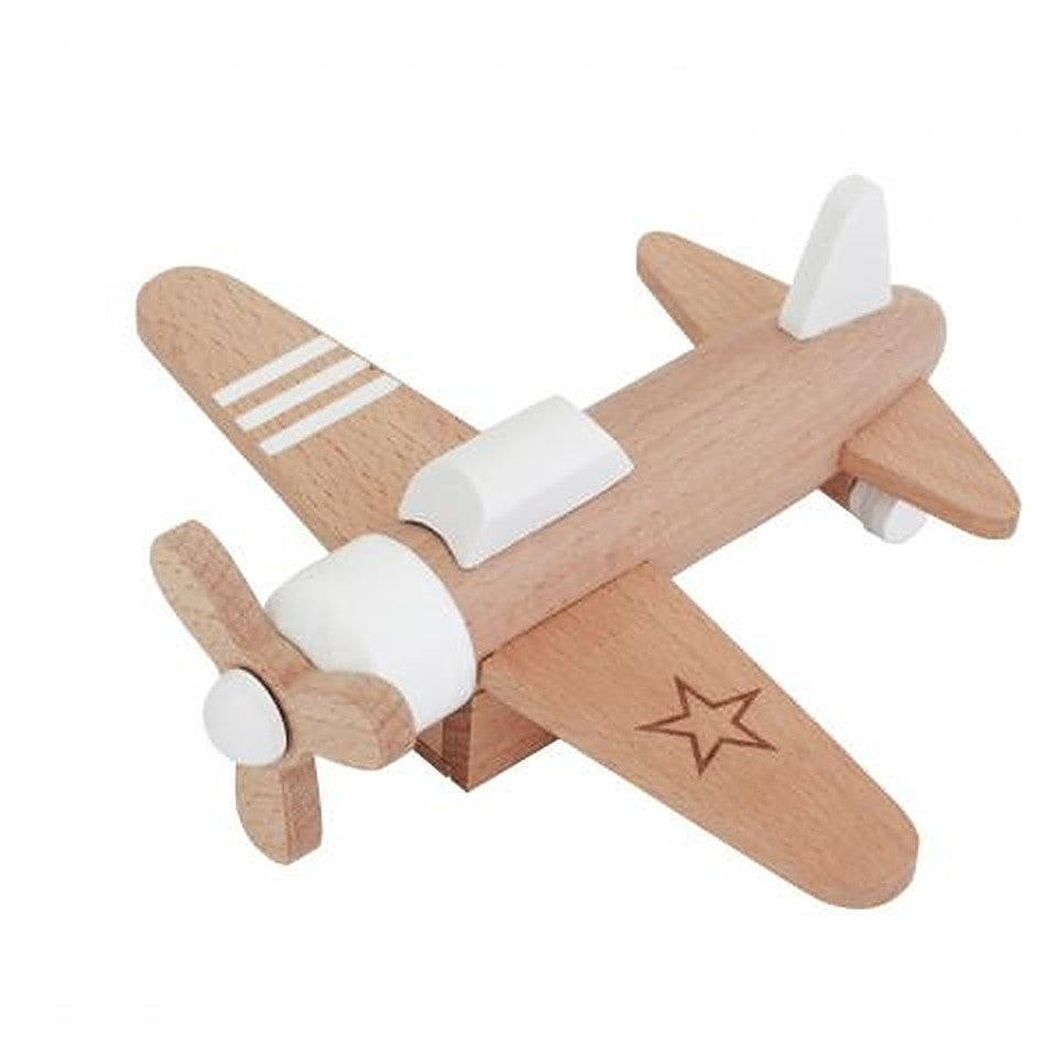 Kiko & GG Wooden Wind-Up Propeller Plane
