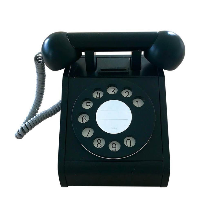 Kiko & GG Wooden Play Telephone - Black