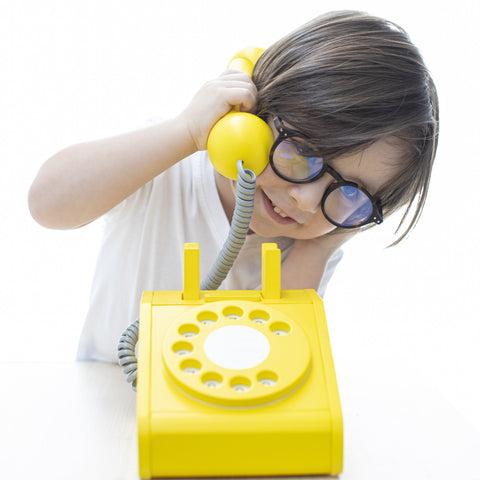 Kiko & GG Wooden Play Telephone - Yellow